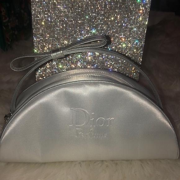 Dior bag silk satin clutch cosmetic case purse